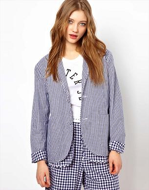 Gingham jacket and pants or shorts