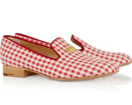 Gingham loafer