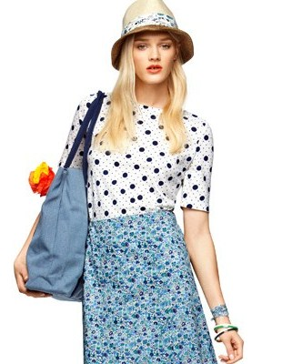 sportscraft girl with a hat and floral skirt