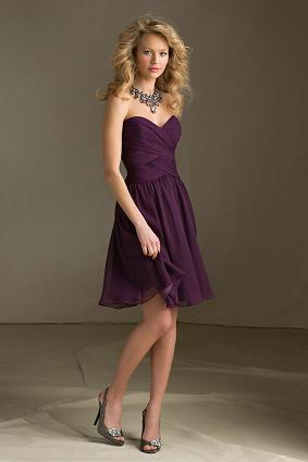 Charming Vouge   Purple Cocktail Dress ...