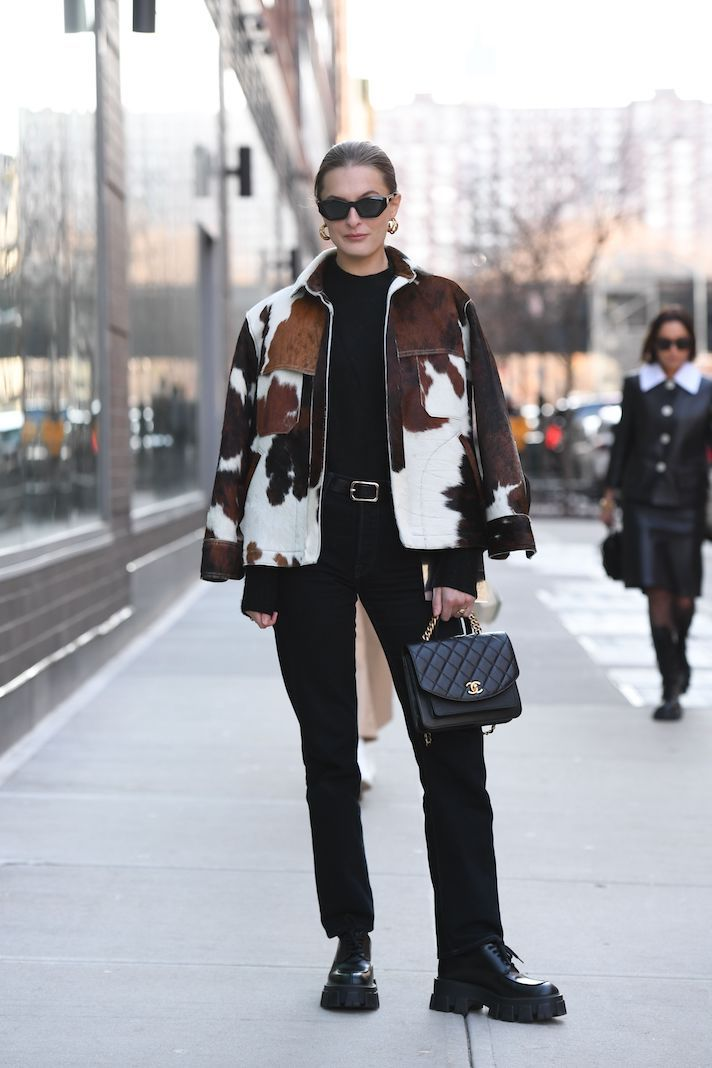 Street Style, Fall Winter 2020, New York Fashion Week, USA - 08 Feb 2020