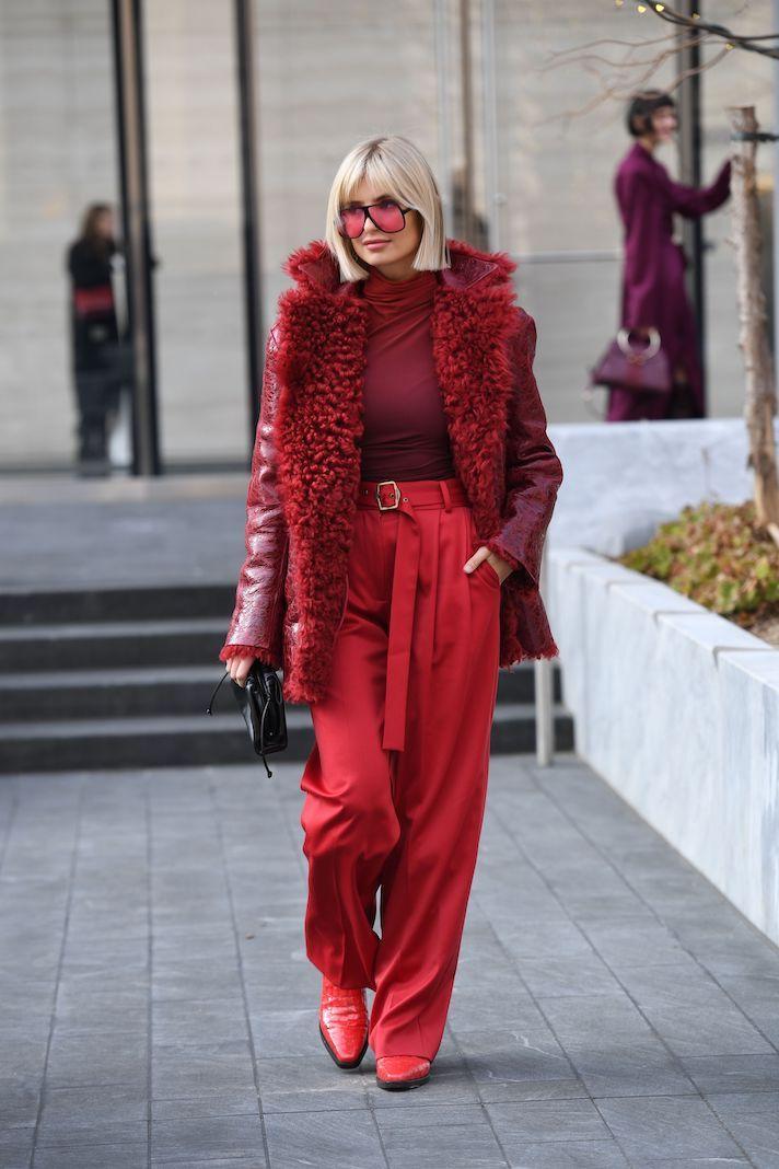 Street Style, Fall Winter 2020, New York Fashion Week, USA - 09 Feb 2020