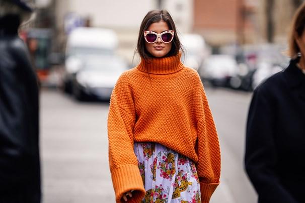 Orange coloured sweater. Getty -MC